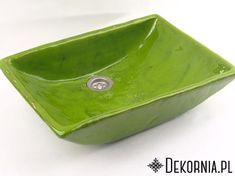 Green handmade sink, ceramic washstand, ceramics, interior idea, original washbasin #green #washbasin #washstand #sink #handmade #ceramics #ceramika #umywalka #zielonaumywalka #ręcznierobione #dekornia