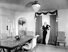 Lombard in her Beverly Hills dining room