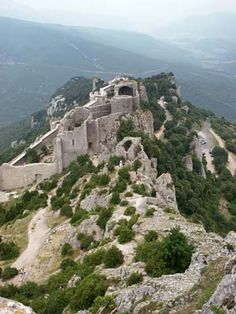 Three Off The Beaten Track European Gems: Off the Beaten Track Cathar Landscapes: Chateau de Peyrepertus Picture