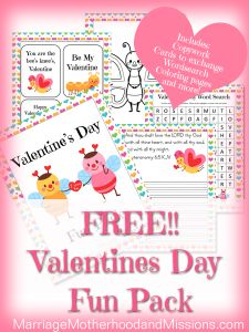 Valentine's Day Fun Printables Pack - Free! | Free Homeschool Deals ©