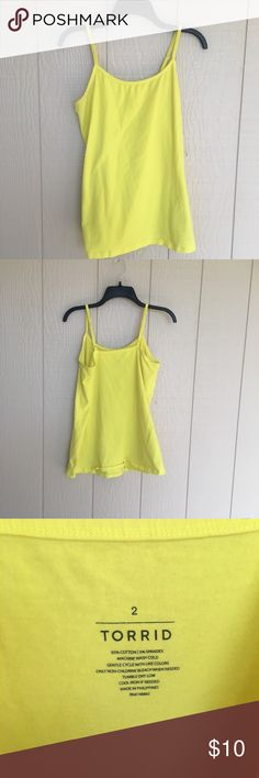 Neon Lime Layering Cami This has been worn a few times but still in perfect condition. Adjustable straps. Fits true to size. No trades, PayPal, lowballing. Same/next day shipping. Smoke free home. torrid Tops Camisoles