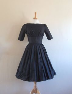Black Linen Audrey Tea Dress  Made by Dig For Victory...coming my way soon with a pair or Lotta from Sweden clogs!!!