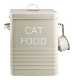VINTAGE-STYLE-CAT-FOOD-TIN-STORAGE-BOX-IN-OLIVE-FOR-DRY-FOOD-POUCHES-TREATS-ETC