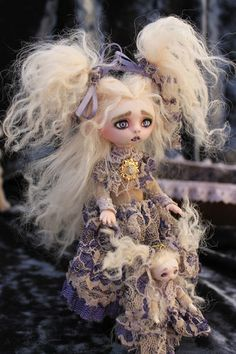 OOAK Gothic Fairy Tale Monster Vampire Goth Posable Art Doll A Gibbons DMA | eBay