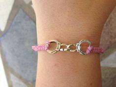 Light Pink Handcuffs Bracelet by krystleskrafts on Etsy, $4.50