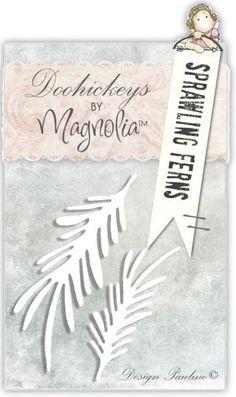Magnolia Stamps DooHickey Sprawling Ferns 2 Dies - 7 mm x 2.75 mm - 5.5 mm x 2.75 mm