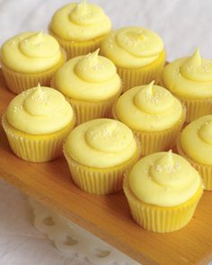 Muddy's Pucker Up Cupcakes: lemon cake + lemon buttercream. Pretty, pastel, and perfect for your wedding!