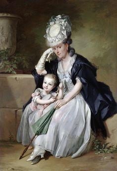 Anton Wilhelm Tischbein artist's wife and son, 1780s http://upload.wikimedia.org/wikipedia/commons/7/77/Anton_Wilhelm_Tischbein_-_Bildnis_der_Gattin_des_K%C3%BCnstlers_mit_S%C3%B6hnchen.jpg