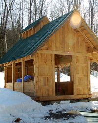 Sugar on Snow Cabin Design, Tiny House Design, Maple Syrup Taps, Maple Syrup Evaporator, Small Cabin Plans, Sugar Bush, Homestead Farm, Small Barns, Wooden Buildings