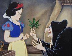 canibus snow white funny princess disney drugs pot cartoons marijuana fairy tale witch