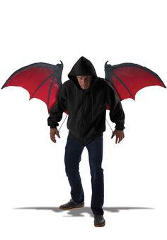 Wings Bloodnight Demon Angel Dark Evil Black Halloween Accessory - Other Halloween Costume Ideas at Escapade™ UK