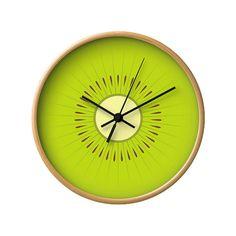 Kiwi-Uhr Wand Uhr Kiwis Uhr grüne Uhr grüne Küche Wand Uhr