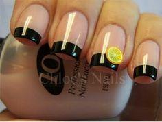 Super nails ideas black tips ideas Trendy Nail Art, 3d Nail Art, 3d Nails, Chloe Nails, French Tip Nails, Super Nails, Accent Nails, Manicure And Pedicure, Nails