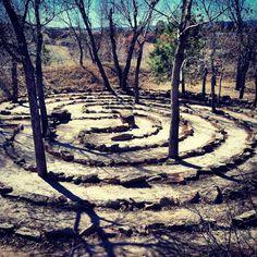 Labyrinth for meditation.because every island needs a labyrinth! Garden Structures, Garden Paths, Garden Art, Garden Design, Labyrinth Garden, Labyrinth Maze, Walking Meditation, Environmental Art, Land Art
