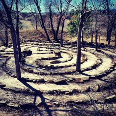 Labyrinth for meditation. This is my favorite pattern for a peaceful walk.