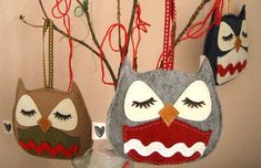 'Stewart the Owl' Handmade Ornaments, Stockings and Throw Pillows | Inhabitots