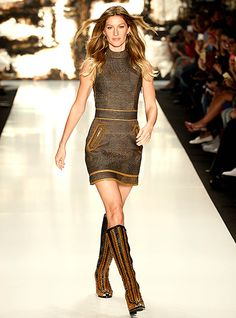 Gisele Bündchen walks the runway at the Colcci fashion show on Nov. 4.