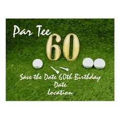 60th Birthday Par tee Party for golfer Postcard diy golf net, golf games tournament, pebble beach golf #golffitness #golftournament #golfpro, back to school, aesthetic wallpaper, y2k fashion