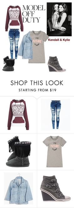 """Jenner sisters"" by abby-white-2 ❤ liked on Polyvore featuring Kendall + Kylie, Être Cécile, Madewell and Ash"