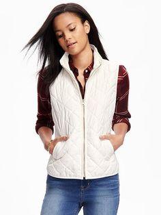 Quilted Vest for Women -  CREME DE LA CREME  $36.94 $25.00