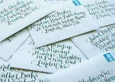 Kate Forrester Hand Lettered Invitations. #writerscramp
