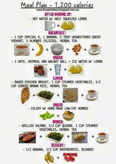 Meal Plan - 1200 Calories...Click on picture then click visit to see my post.