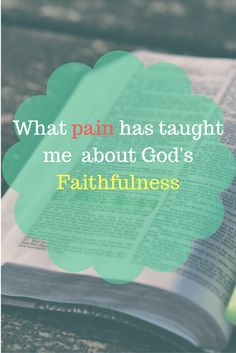 Life is hard and we go through painful seasons.  However, with our faith in God there are some great lessons we can learn.  For more encouragement, check out: www.onlygirl4boyz.com