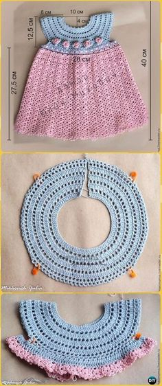 Crochet Girls Dress Free Patterns & Instructions Crochet Girl Dress Rosa Free Pattern - Crochet Girls Dress Free Patterns Knitting works range from the time when ladies . Crochet Spring Dresses, Crochet Dress Girl, Baby Girl Crochet, Crochet Baby Clothes, Crochet For Kids, Crochet Summer, Crochet Baby Outfits, Crochet Toddler Dress, Crochet Yoke