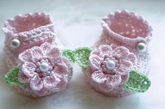 These Mary Jane Baby Booties are just one of the cute booties here.