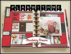 Plan With Me   The Happy Planner & Dollar Tree Planner   STRAWBERRY DREA...