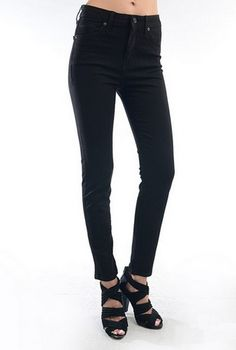Just USA PS240 Black High Rise Ankle Skinny Jeans - my absolute favorite jeans (the ankle length means they're perfect for short girls, no bunching near the bottom).