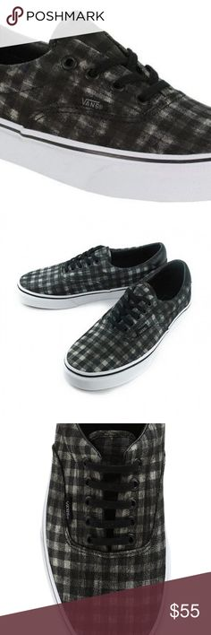 5b05a37bd6 Vans Era 59 Distressed Plaid Black Classic Size 11 New In Box !Factory  distressed plaid