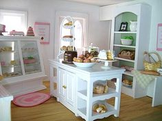 Inspiration for an American Girl Bakery from Little Things by Anna American Girl Bakery, American Girl Crafts, American Girl Dollhouse, American Girl House, American Girls, Doll Furniture, Dollhouse Furniture, Ag Dolls, Girl Dolls