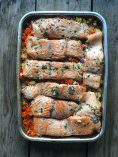 MARINERT LAKS MED COUSCOUSSALAT – Mat Til Familien Couscous, Sausage, Meat, Food, Sausages, Essen, Meals, Yemek, Eten