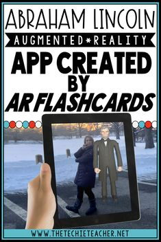 Students will have a blast studying Abraham Lincoln and the Gettysburg Address with this augmented reality iOS app created by AR Flashcards. Virtual Reality Education, Augmented Virtual Reality, Virtual Reality Systems, Technology World, Digital Technology, Educational Technology, Technology Lessons, Reading Facts, Virtual Field Trips