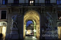Royal Passage in Vienna Photograph by John Rizzuto Vienna, Barcelona Cathedral, Fine Art Prints, Building, Photography, Travel, Photograph, Viajes, Buildings