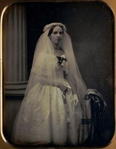 Southworth and Hawes, Martha Pickman Rogers in Her Wedding Gown, mid-19th century.