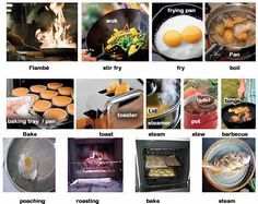Different ways to you can cook food English basics lesson. A brief description of each cooking method.