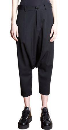 Comme des Garçons Jodpur Trousers - Cropped - Barneys.com - Hangkruis - Harembroek - black -zwart