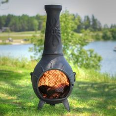 Black Outdoor Garden Chiminea Chimney Furniture Cover Protector Durable Waterproof Rain Protection Heavy Duty Protect Patio Heater All Year Round Reinforced