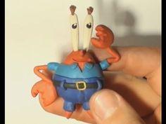 Как лепить Мистера Крабса из пластилина или полимерной глины. How to make a Mr. Krabs of polymer clay.