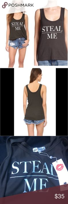 NWT WIldfox Steal Me Tank Wildfox Steal Me Tank in gray perfect condition. New with tags. Size Medium. Wildfox Tops Tank Tops