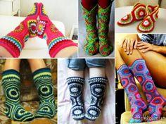 Hexagon Boot Slipper Crochet Is Stunning