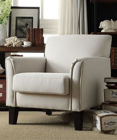 Another great find on #zulily! White Kinsley Arm Chair #zulilyfinds