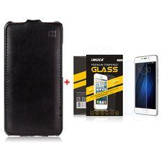 Meizu M3S Mini Case 5.0 inch iMUCA Vertical Flip Leather Case Cover For Meizu M3S Mini GIft Tempered Glass Screen Protector Film