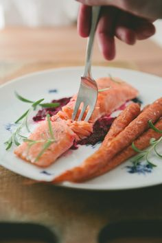 Sous Vide Salmon with Roasted Beet Sauce (A Thought for Food)