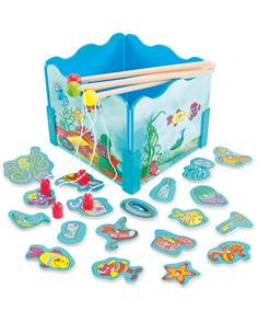 Little House Wooden Fishing Game