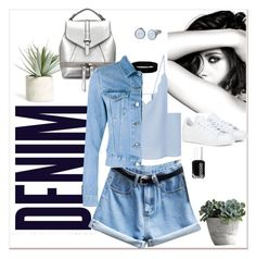 Denim by nastja11t on Polyvore featuring polyvore, fashion, style, MANGO, Acne Studios, adidas, Urban Renewal, Skagen, Essie, Allstate Floral, Alima, Chanel and clothing