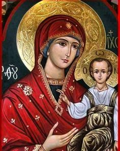Holy Mother of God hand painted icon by Peter Dzyuba. Blessed Mother Mary, Blessed Virgin Mary, Religious Icons, Religious Art, Christian Artwork, Mary And Jesus, Holy Mary, Madonna And Child, Catholic Saints