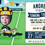 Print off our Rugby Birthday Invitations for a kids party. We'll customise with a photo and your team colours and wording. Print off as many as you need. Birthday Invitations Kids, Party Invitations, Rugby, Colours, Children, Toddlers, Boys, Kids, Child